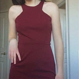 Maroon tight halter cocktail or homecoming dress